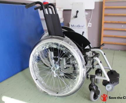 Save the Children in Kosovo and Handikos give away 6 new wheelchairs for children in Ferizaj