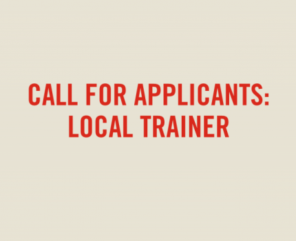 Call for Applicants: Local Trainer
