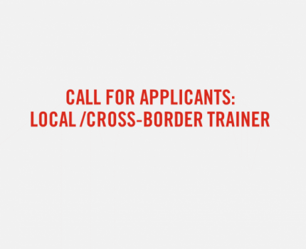 Call for Applicants: Local/Cross-border Trainer