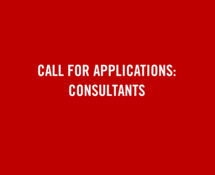 Call for Applications: Consultants
